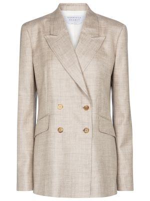 Льняной бежевый пиджак Gabriela Hearst