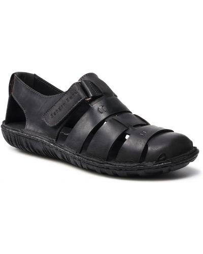Czarne sandały na lato Sergio Bardi