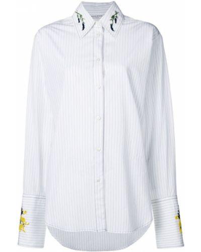 Рубашка с длинным рукавом белая с вышивкой Sonia Rykiel