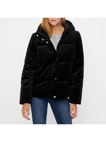 Куртка с капюшоном стеганая велюровая Vero Moda