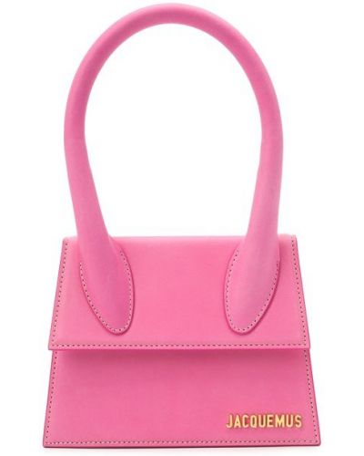 Розовый кожаный топ круглый Jacquemus