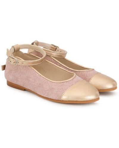 Туфли розовый с цветочным принтом Sonatina Kids