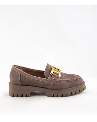 Бежевые кожаные туфли Sidestep