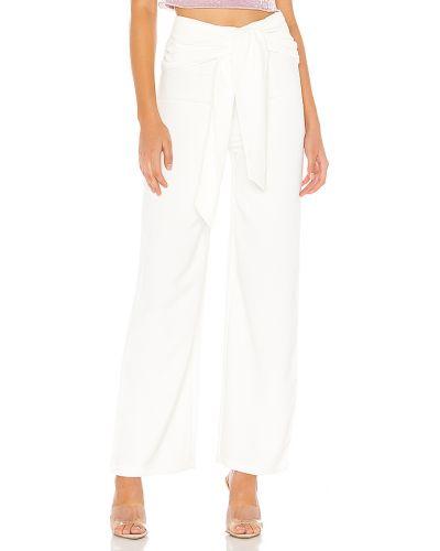Biały spodnie z zamkiem błyskawicznym w połowie kolana Superdown