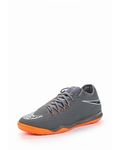 Серые кожаные бутсы Nike
