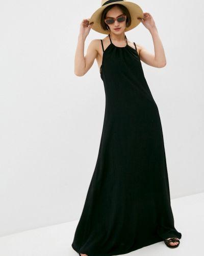 Черное вечернее платье Trussardi