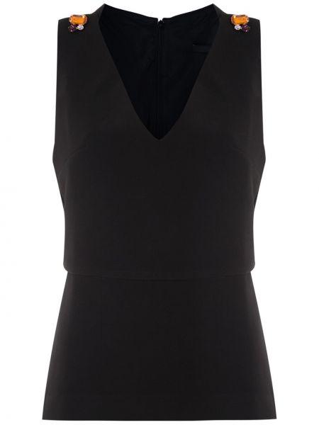 Блузка без рукавов - черная Eva