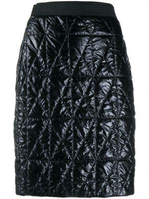Черная прямая с завышенной талией юбка Karl Lagerfeld
