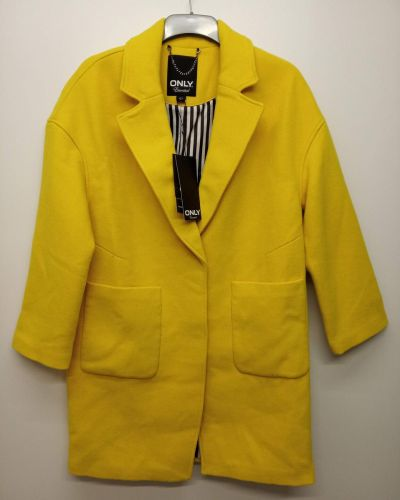 Шерстяное пальто - желтое Only