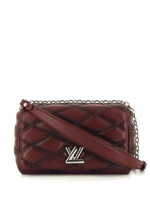 Кожаная стеганая красная сумка на плечо Louis Vuitton