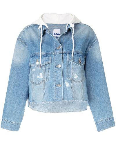 Прямая синяя джинсовая куртка Sjyp