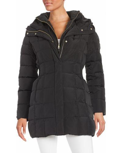 Płaszcz puchowy z kapturem - czarny Re/done