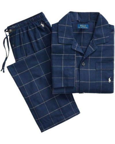 Flanelowa piżama - niebieska Polo Ralph Lauren