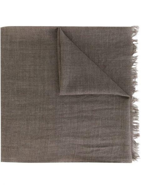 Кашемировый коричневый шарф с бахромой Fashion Clinic Timeless