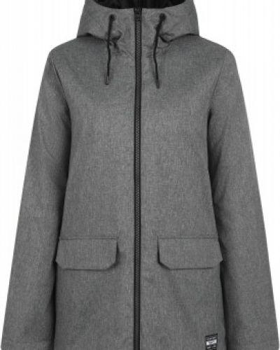 Прямая серая утепленная куртка мембранная Termit