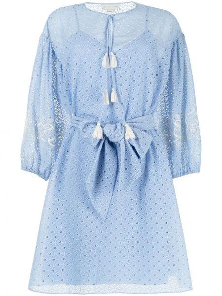 Niebieska sukienka z haftem Sachin & Babi