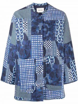 Синяя куртка с воротником Henrik Vibskov