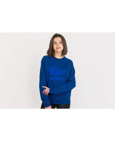 Niebieska bluza dresowa bawełniana Lacoste