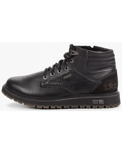 Черные кожаные ботинки Id! Collection