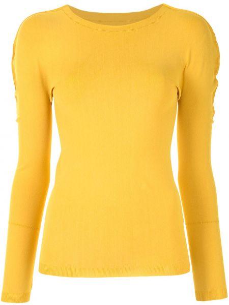 Желтый с рукавами топ круглый Issey Miyake Cauliflower