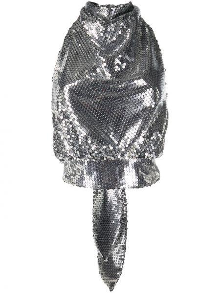 Шелковый открытый кроп-топ с открытой спиной The Attico