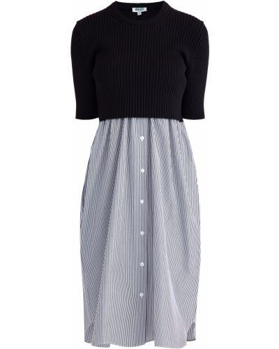 Платье на пуговицах со складками Kenzo