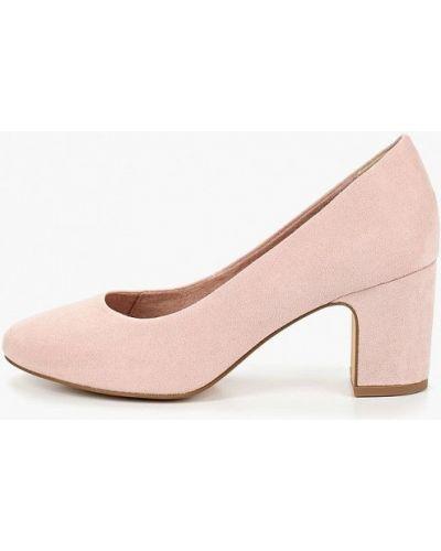 Туфли на каблуке на каблуке розовый Tamaris