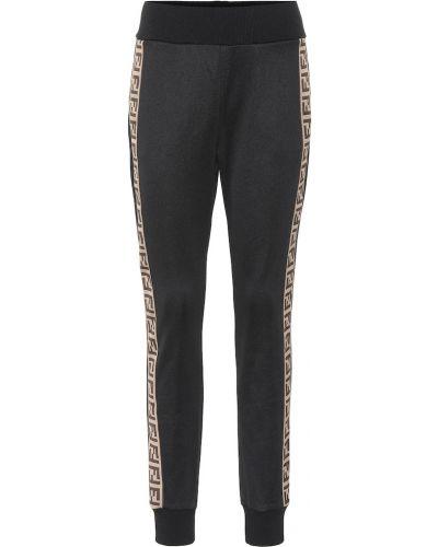 Спортивные брюки с лампасами со штрипками Fendi