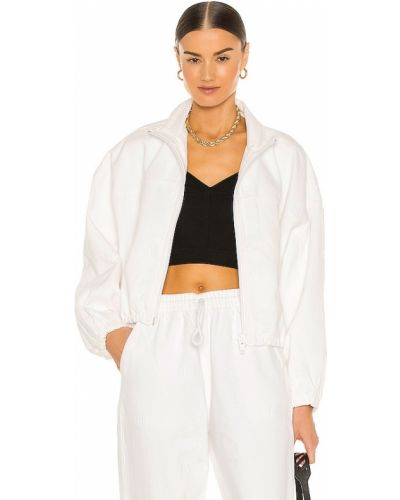 Ватная белая джинсовая куртка на молнии Denim X Alexander Wang