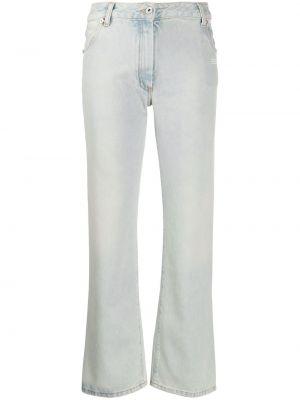 Белые укороченные джинсы с карманами на пуговицах в стиле бохо Off-white