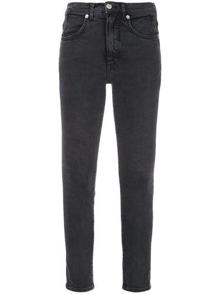 Czarne jeansy z wysokim stanem bawełniane Adaptation