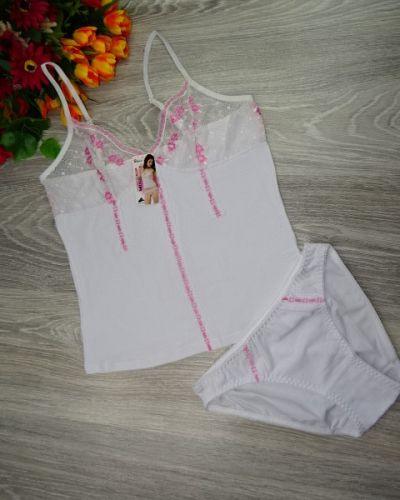 Белая хлопковая пижама Indena