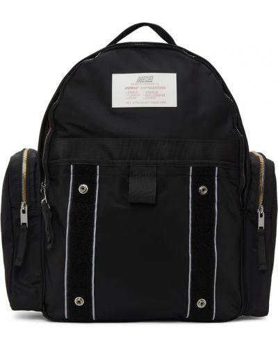 Złoty czarny plecak na laptopa Diesel
