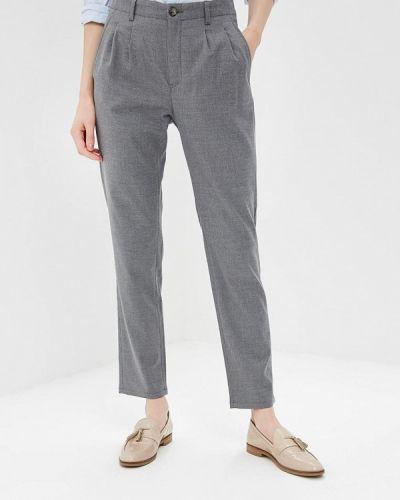 Серые брюки с завышенной талией Gas