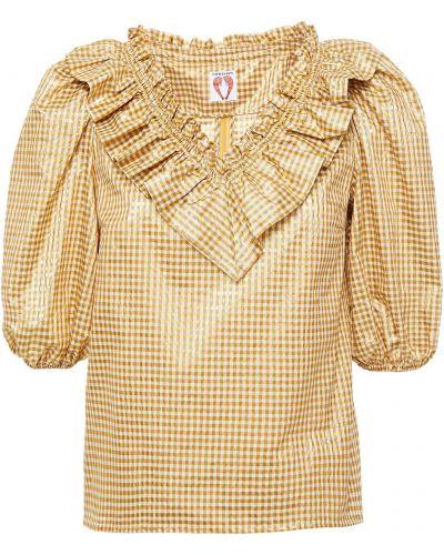 Хлопковая блузка с манжетами золотая Shrimps