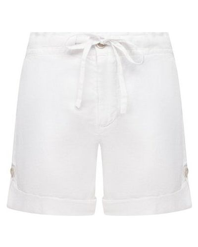 Льняные белые шорты 120% Lino
