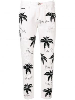 Прямые джинсы - белые Philipp Plein