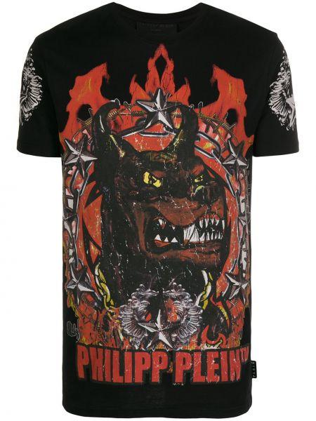 Koszula krótkie z krótkim rękawem z logo z nadrukiem Philipp Plein