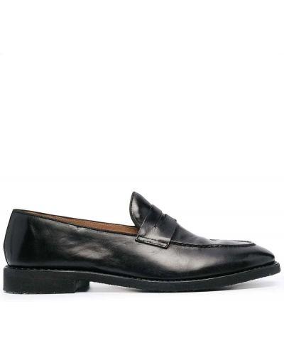 Czarne loafers skorzane Alberto Fasciani