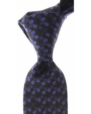 Niebieski krawat z jedwabiu Christian Lacroix