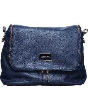 Синяя кожаная сумка Baldinini