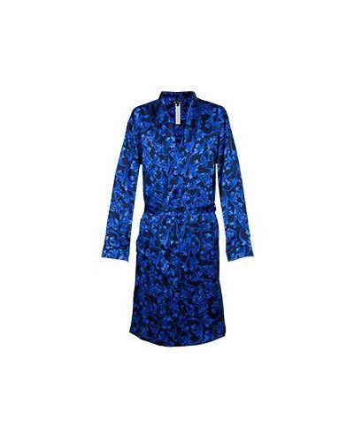 Синий халат Versace