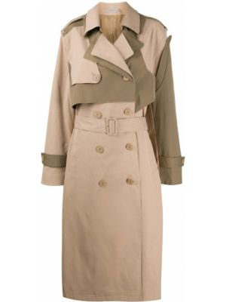 С рукавами пальто на пуговицах с лацканами с карманами Preen Line