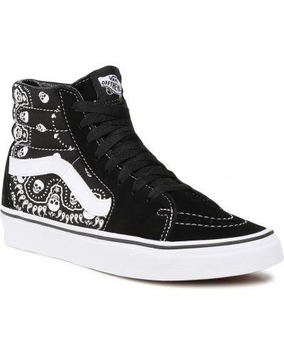 Buty sportowe skorzane - czarne Vans