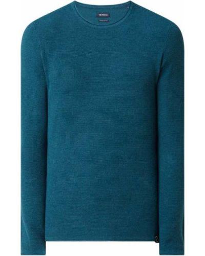 Sweter bawełniany - turkusowy Mcneal