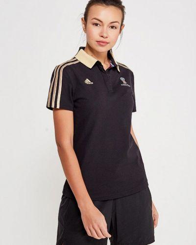 Черное поло Adidas