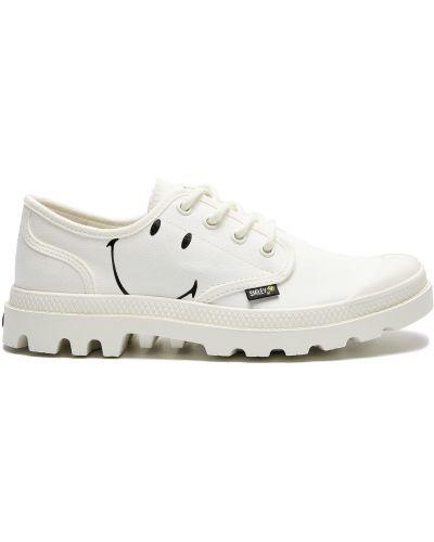 Текстильные белые ботинки с подкладкой Palladium