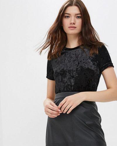 Блузка с коротким рукавом черная Tantino