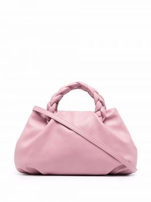 Różowa torebka skórzana Hereu