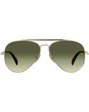Zielone złote okulary Db Eyewear By David Beckham